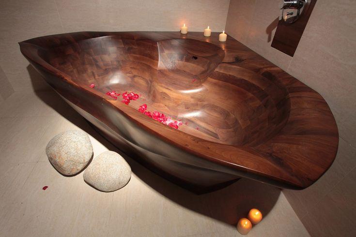 dřevěná vana RAJA - ořech http://podlahove-studio.com/content/40-drevene-koupelny-drevene-vany-a-umyvadla