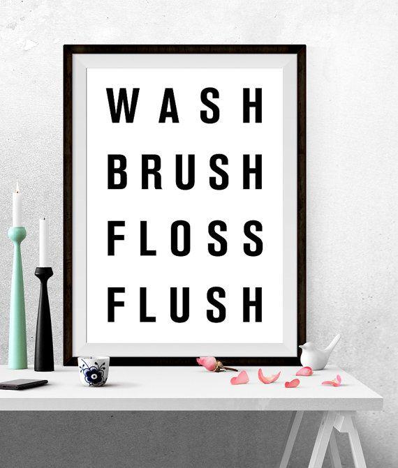 Cute Wash brush floss flush Poster stampabile Arte stampabile Stampa artistica Arte digitale