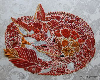 crewel embroidery fox - Google Search                                                                                                                                                                                 More