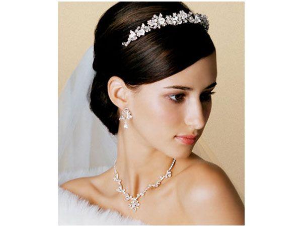Tiaras para novias de diadema