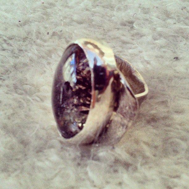 Anillo de plata.  Piedra: Cuarzo Rutilado.