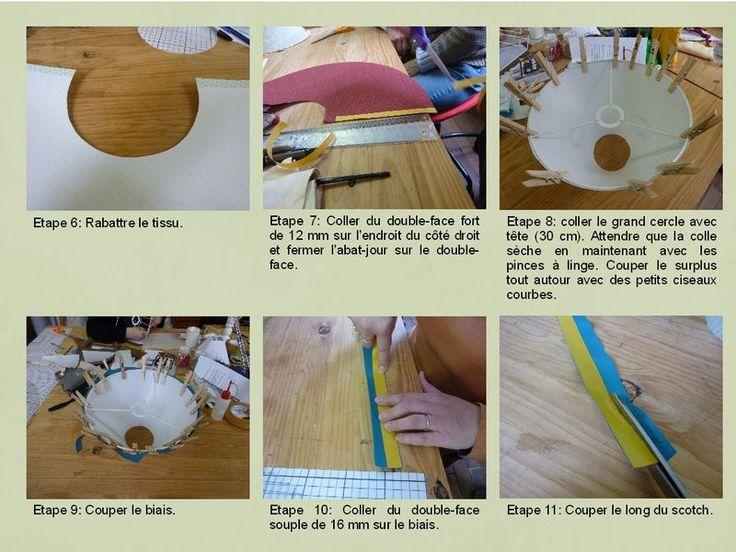 Les 65 meilleures images propos de fabrication lampe abat jour sur pinterest lanternes en Fabrication abat jour