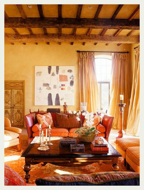 mellow and bohemian living room