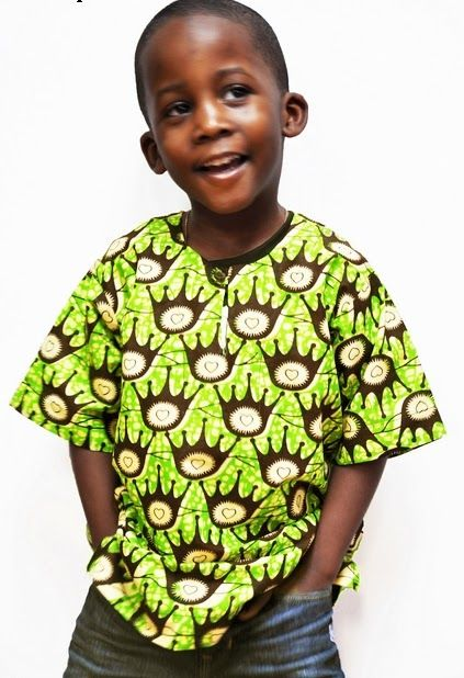 Baby Boy Pose with Ankara Top