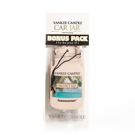 Coconut Bay Scented Paper Hanging Air Freshener 3 Pack