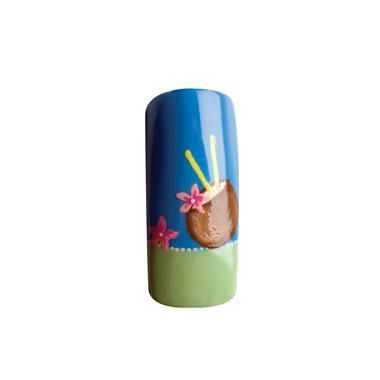 Nail Art How To Coconut Milk Drink Nails   Straws and Hibiscus Flowers, Hawaiian Nail Design, Hawaii   Nail Art How To: Tropics   NAILPRO