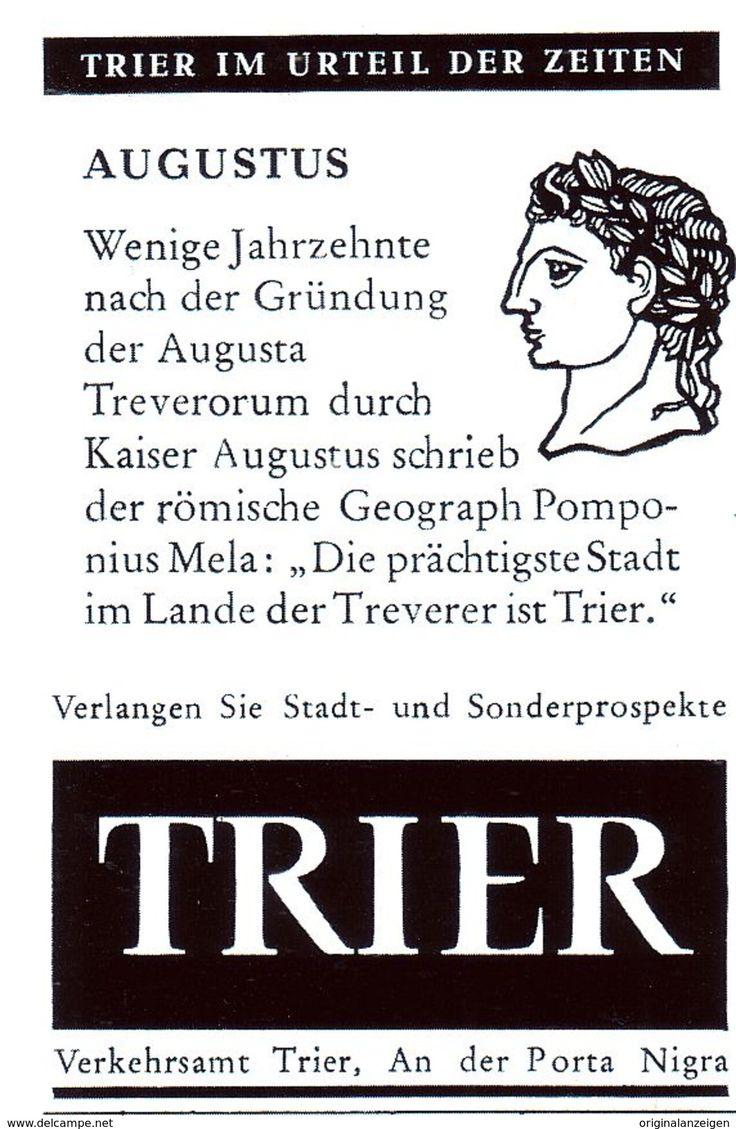 Werbung - Original-Werbung/Anzeige 1962 - KAISER AUGUSTUS / TRIER - ca. 45 x 65 mm