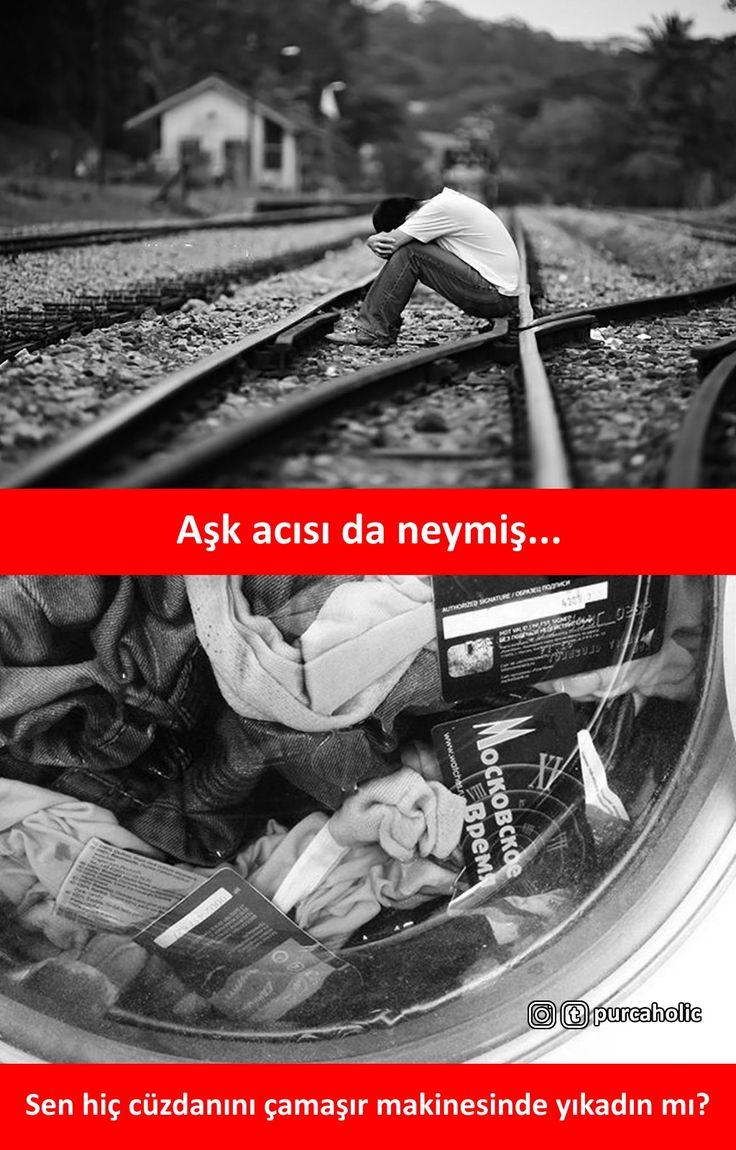 Aşk acısı da neymiş... Sen hiç cüzdanını çamaşır makinesinde yıkadın mı? #mizah #matrak #komik #espri #şaka #gırgır #komiksözler #caps #cüzdan #çamaşırmakinesi