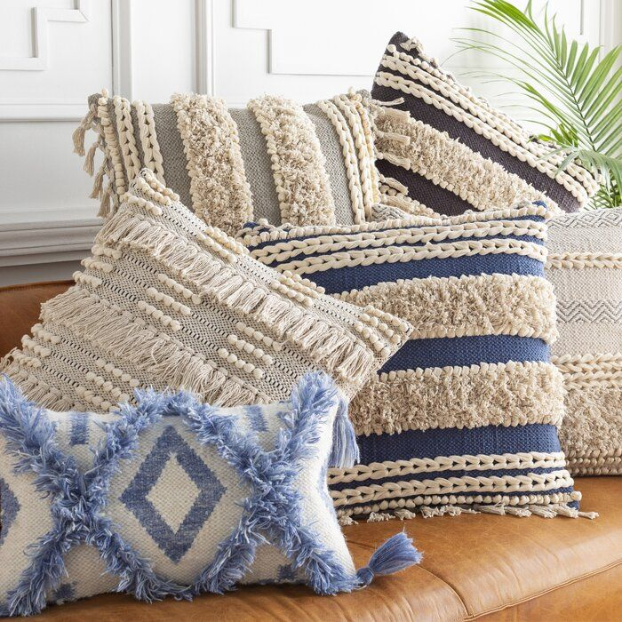 Ilene Cotton Throw Pillow Cover | Throw