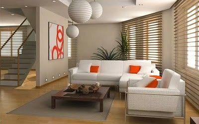 Sala donde lo ideal es que sean muebles cómodos y acompañados de decoración de color para darle vida.