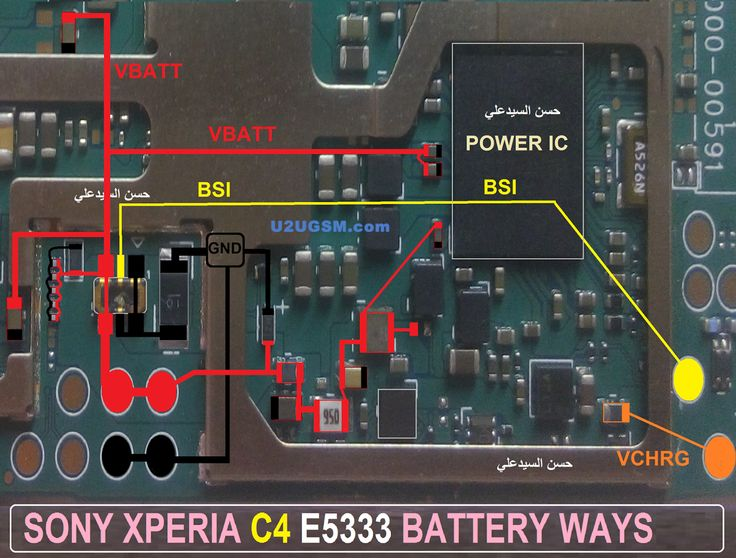 Sony Xperia C4 E5333 Battery Connector Terminal Jumper