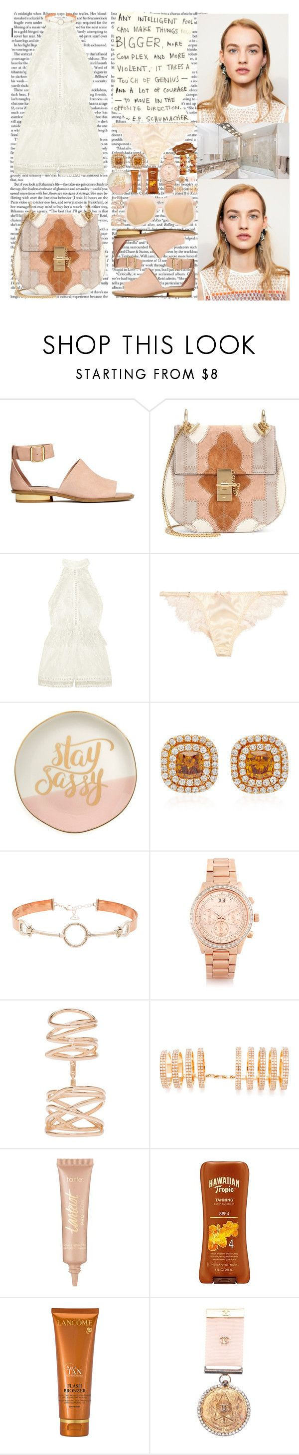 """I bought every V12 engine Wish I could take it back to the beginnin' I coulda bought a place in Dumbo before it was Dumbo For like 2 million That same building today is worth 25 million Guess how I'm feelin'? Dumbo"" by labelsoflove ❤ liked on Polyvore featuring H&M, Chloé, Zimmermann, Agent Provocateur, Slant, Martin Katz, Cast of Vices, Michael Kors, Repossi and tarte"