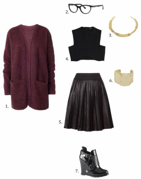 La jupe plissée en cuir pour un look rock & chic