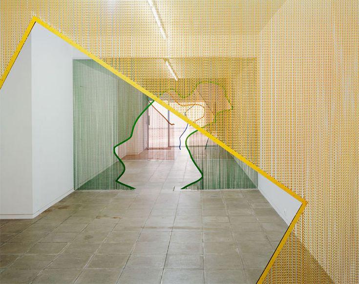 Steel Curtain Installations by Daniel Steegmann Mangrane | http://www.yellowtrace.com.au/daniel-steegmann-mangrane-steel-curtain-installations/