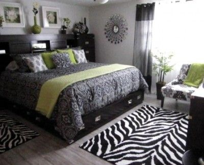 Awesome Zebra Room Decor : Master bedroom decorating ideas... Green Accent, Bedrooms Design ...
