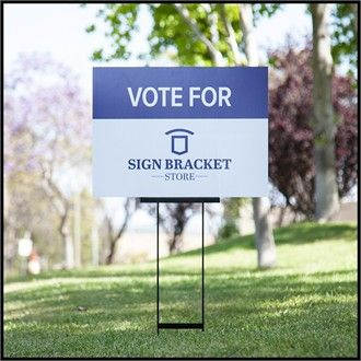 The Sign Bracket Store brings you a step up from cheap yard signs that twist and bend in the wind. The Heavy Duty Campaign Sign Stakes come in a set of 10 -- your choice of 2 sizes 10x24 or 10x33