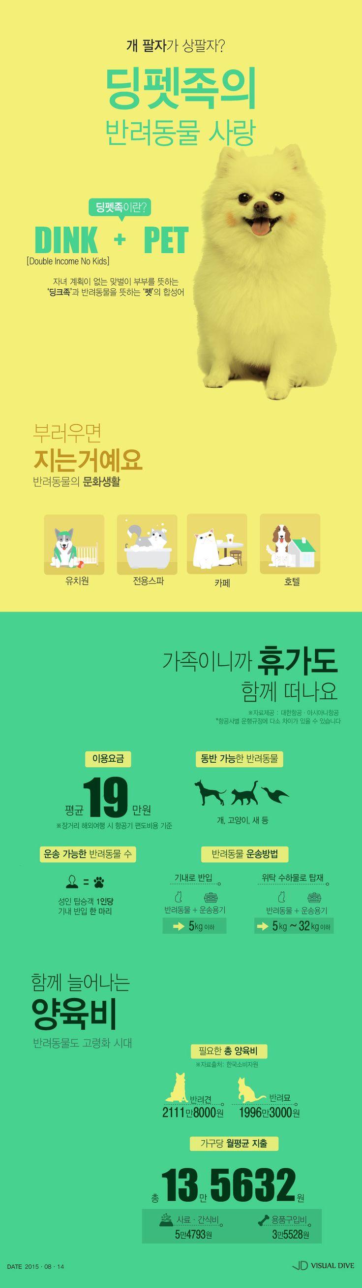 딩펫족의 반려동물 사랑 '사람 부럽지 않네' [인포그래픽] #DINKPET / #Infographic ⓒ 비주얼다이브 무단 복사·전재·재배포 금지