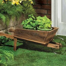 63 best ideas about wheelbarrows and scarecrows on for Carritos de madera para jardin