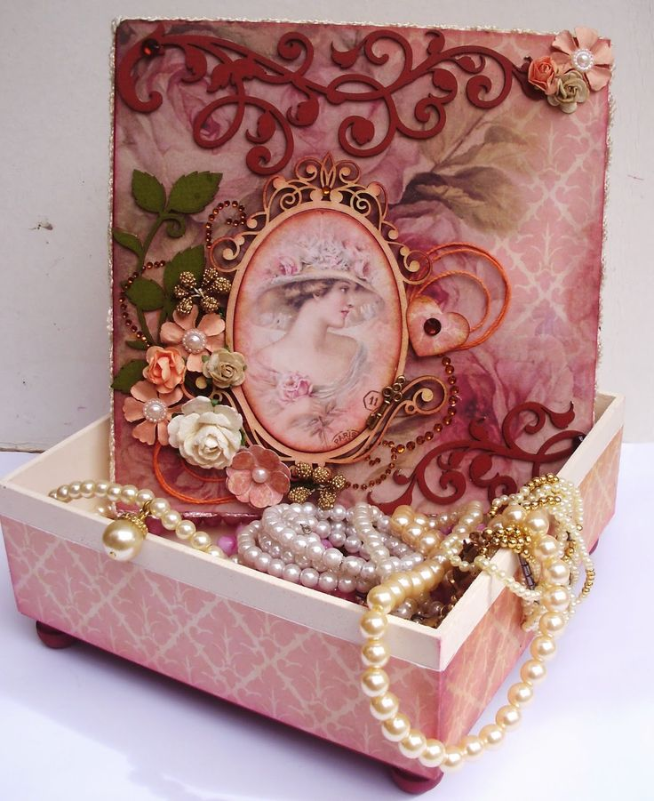 BLOG DA BETH: Caixa Vintage-Scrap Decor