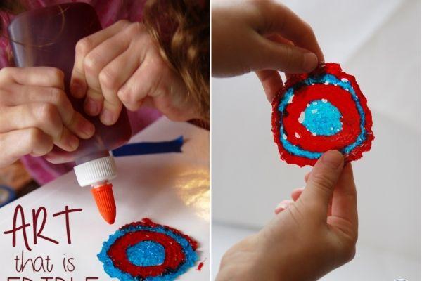 Съедобные краски для детей из желатина | Baby journal