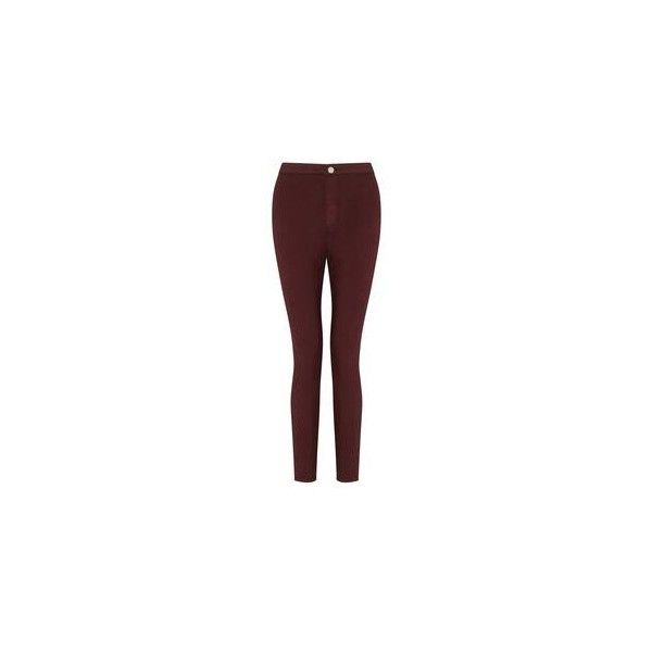 Steffi Burgundy Zip Hem Jean ❤ liked on Polyvore featuring jeans, zipper fly jeans, miss selfridge jeans, zipper jeans, miss selfridge and zip jeans