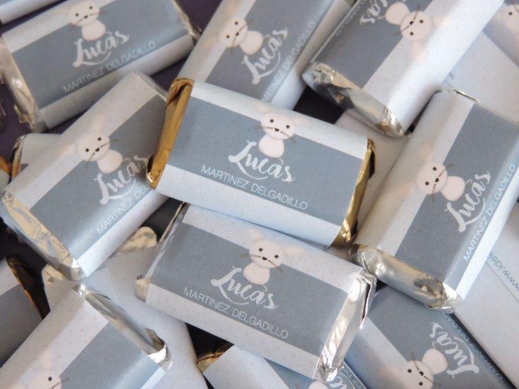 Chocolates para baby shower Ratoncito