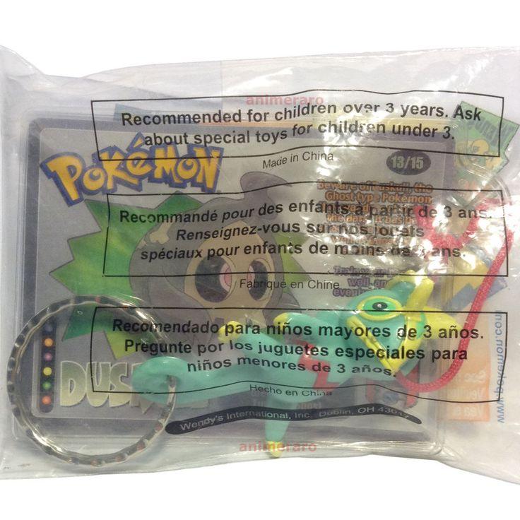"""Pokemon Wendy's Kids Meal KECLEON 2.9"""" Key Chain Figure DUSKULL CARD 2002 NIB  #Wendys"""