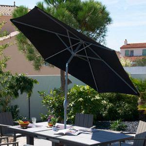Parasol inclinable avec manivelle forme octogonale Prems