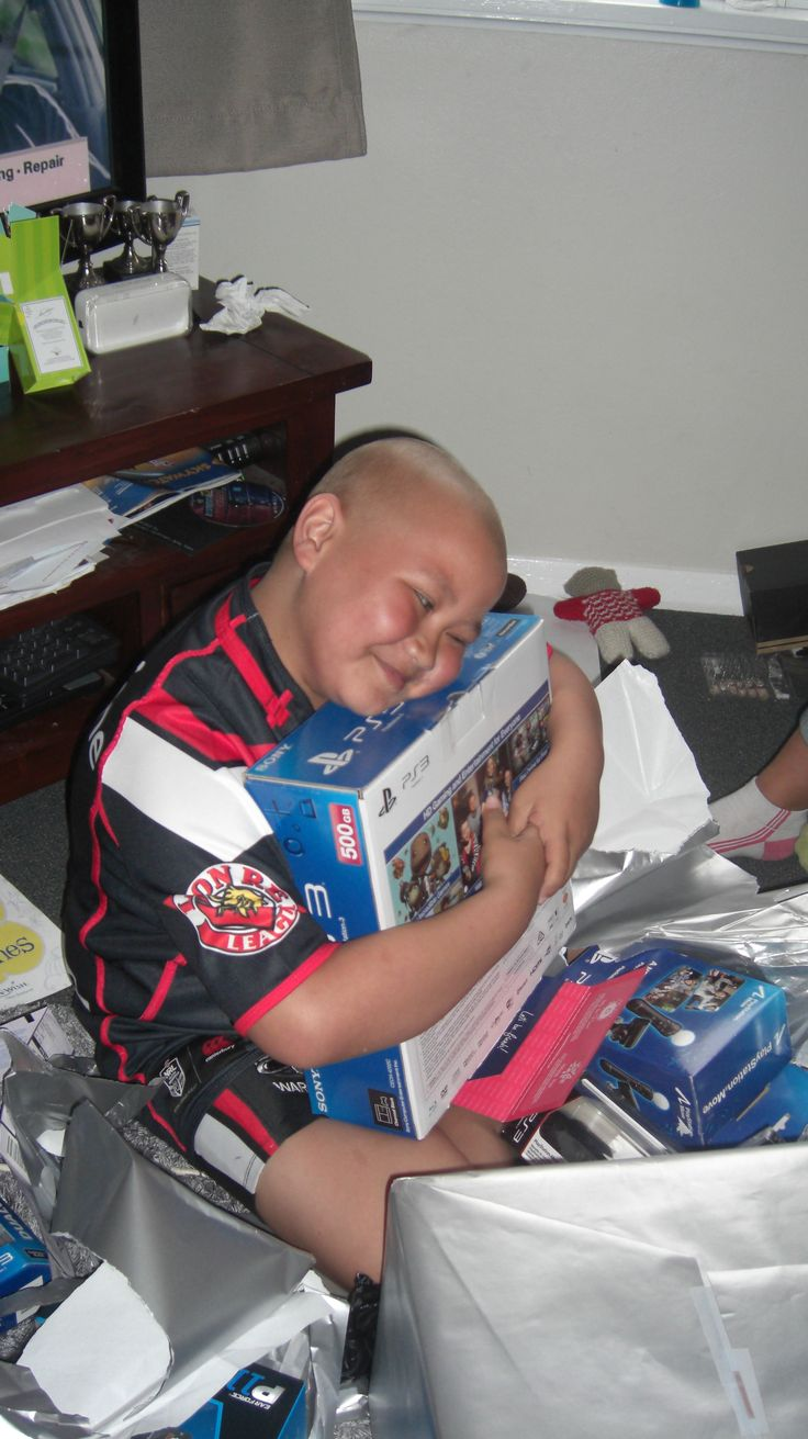 Pape is 10 years old and has Cancer. He loves bike riding, wrestling and rugby! He also loves games and his one true wish was to have a PS3. Safe to say he looks pretty happy with it!   Pape also told us that if he could experience anything in the world it would be to go to a Nitro Circus Show! Pape and his family were gifted VIP tickets to the show – we can't wait to see pics and hear all about it! #MakeAWishNZ