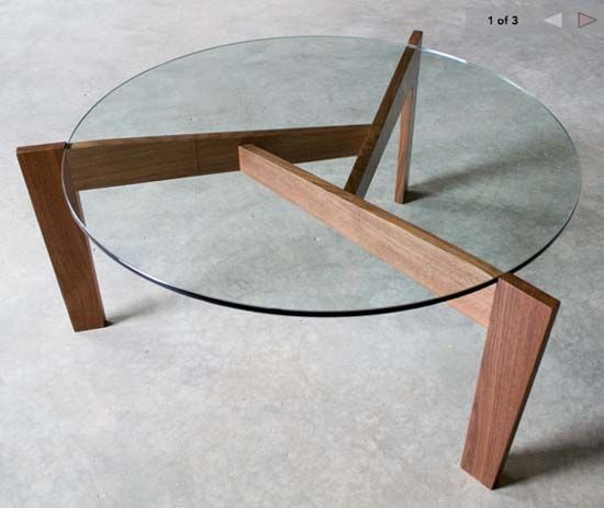 Round Three Legs Coffee Table