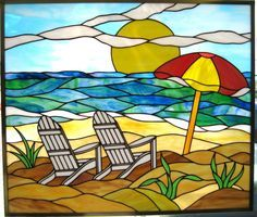 stained glass chair on beach - Google Search