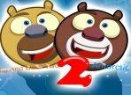Due orsi siamesi hanno intrapreso una nuova avventura nelle montagne glaciali. Usa le frecce direzionali e i tasti: a, d, w, per muoverli e condurli al traguardo!