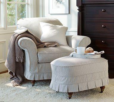 Pottery Barn Savannah Chair - stripes