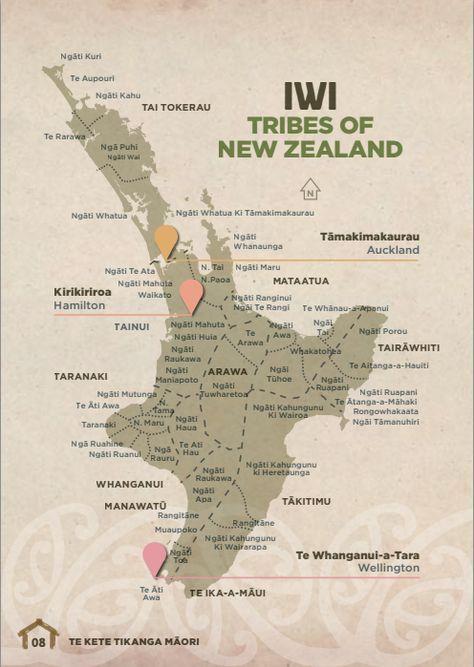 Map of NZ Maori Iwi - North Island