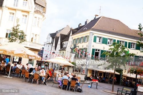 Ratingen, Germany - August 4, 2014: People are having a break at... #ratingen: Ratingen, Germany - August 4, 2014: People are… #ratingen