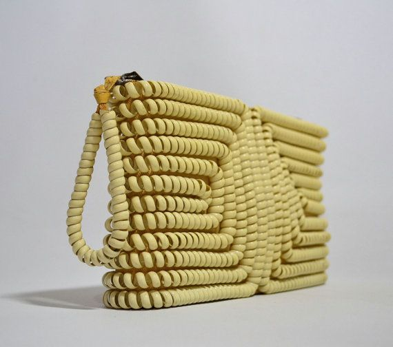 Dial C for Chic Vintage 40's Cream Telephone Clutch Purse by ManyAMoonVintage, $95.00