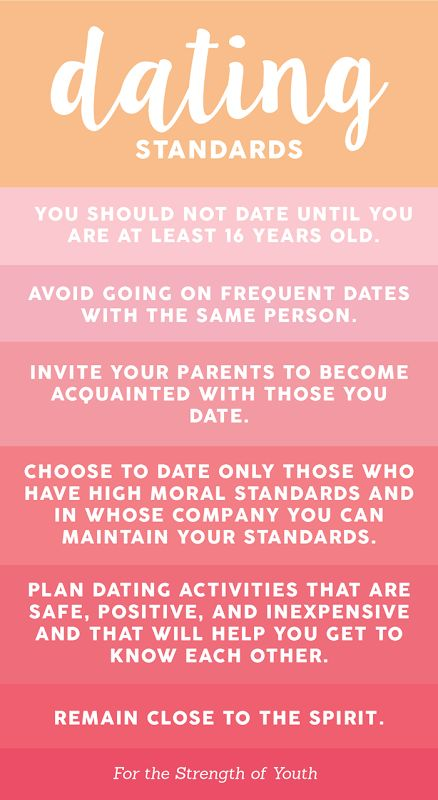 from Lawrence lds rules for dating
