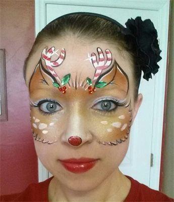 Cameron Garrett - Cute Reindeer Face Paint!:
