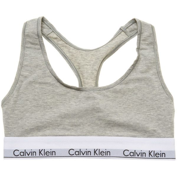 Calvin Klein Underwear Women's Modern Cotton Wirefree Sports Bra -... ($28) ❤ liked on Polyvore featuring activewear, sports bras, grey, cotton sports bra, cotton activewear, calvin klein underwear, grey sports bra and racerback sports bra