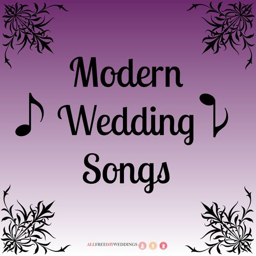 If you're into new music above all else, but the only wedding songs you can find are from your parents' era, have no fear. We have here a list of modern wedding songs perfect for your twenty-first century wedding.
