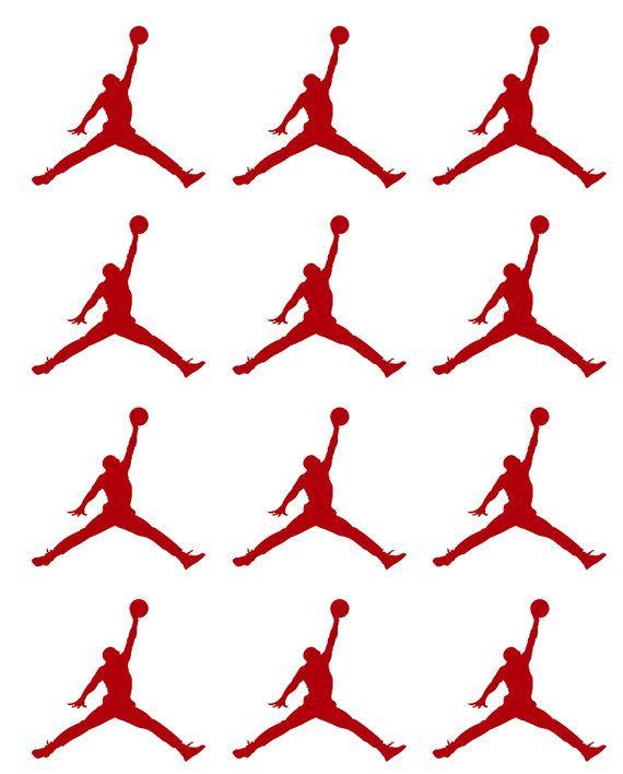 Jumpman Jordan Stickers 30 pcs Basketball Player by SoulVinyls