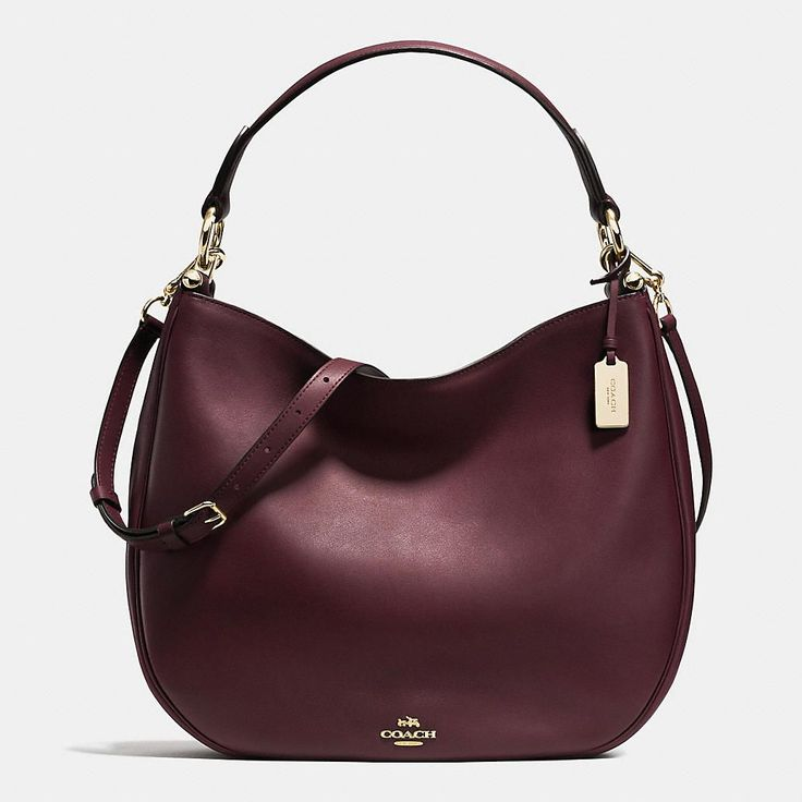 Coach Nomad Hobo in Glove-tanned Leather - color: Oxblood.  Love this beautifully designed bag that has incredible details. I highly recommend it to anyone looking for the perfect Fall 2015 bag.