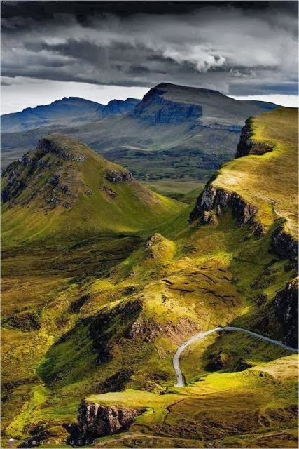 Trotternish Ridge, Isle of Skye, Scotland - also seen in the movie Prometheus at the beginning