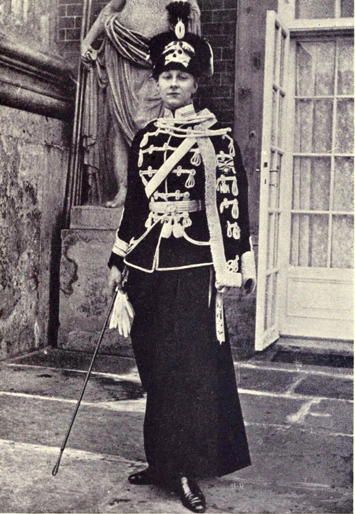 Princess Victoria Louise of Prussia as Colonel of the ...