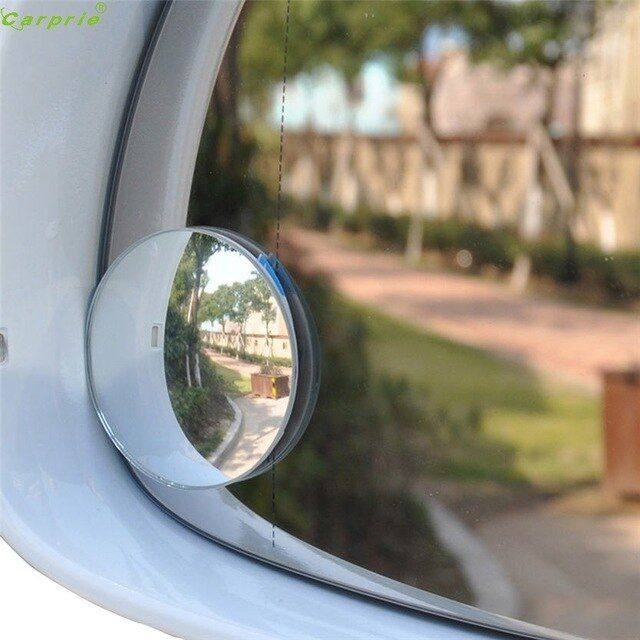 WIDE ANGLE CONVEX CAR AUTO BLIND SPOT STICK-ON SIDE VIEW REARVIEW MIRROR SUPERB