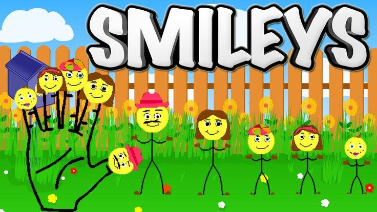 Finger Family Song of Smileys    Finger Family Nursery Rhymes for Kids