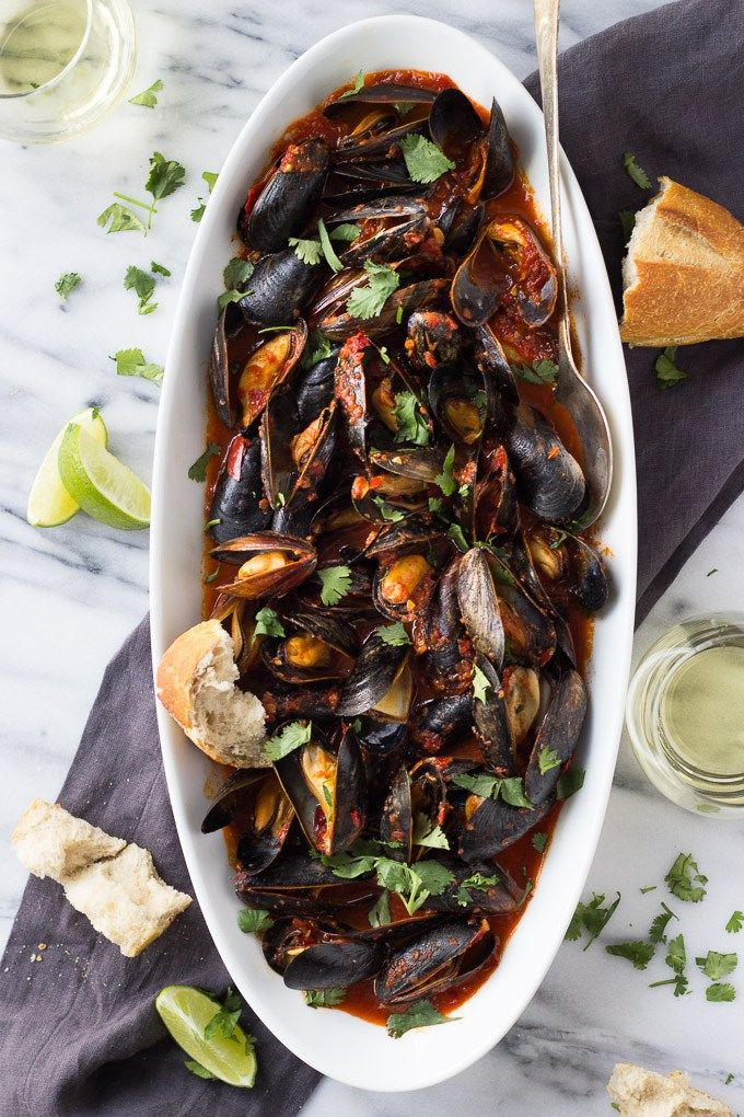 Guajillo Chili Mussels   Fork in the Kitchen - An easy, flavorful, elegant dinner for two!