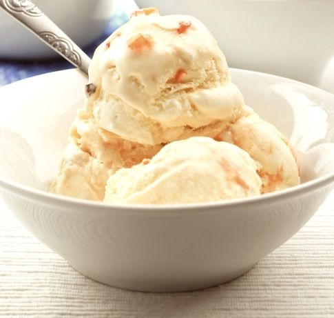 Ginger & Honey Gelato.  Made with full fat Greek yogurt, this is a healthier ice-cream and so delicious that even my yogurt-hating husband loves it!