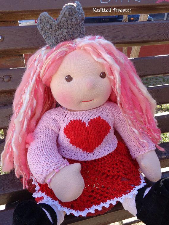 Clarissa Handmade Waldorf doll 17 tall. ECO friendly by tatocka, $180.00