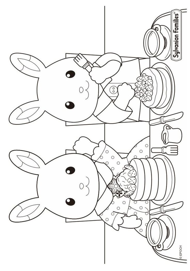 Coloring Pages For Quilt Blocks : 51 best calico critters coloring pages images on pinterest
